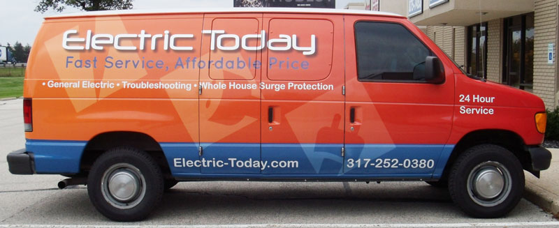 Ford Van Wrap, Electric Today Ford Van wrap, vehicle full wrap