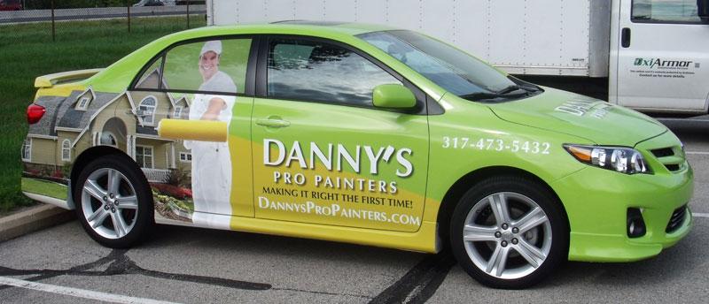 Danny's Pro Painters, car full wrap, Danny's Pro Painters full wrap