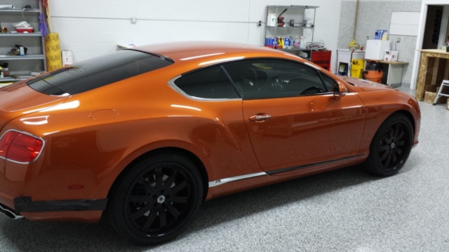 burnt orange chrome wrap, full chrome vehicle wrap, chrome wrap, chrome for car, chrome on car wrap