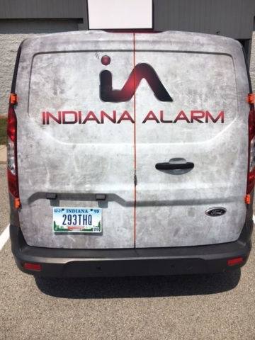 Indiana Alarm transit wrap, Transit full wrap, full vehicle wrap