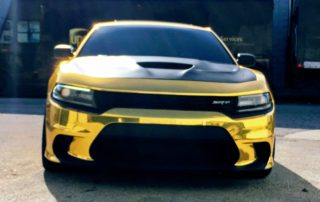 Gold Chrome Dodge Charger Hellcat
