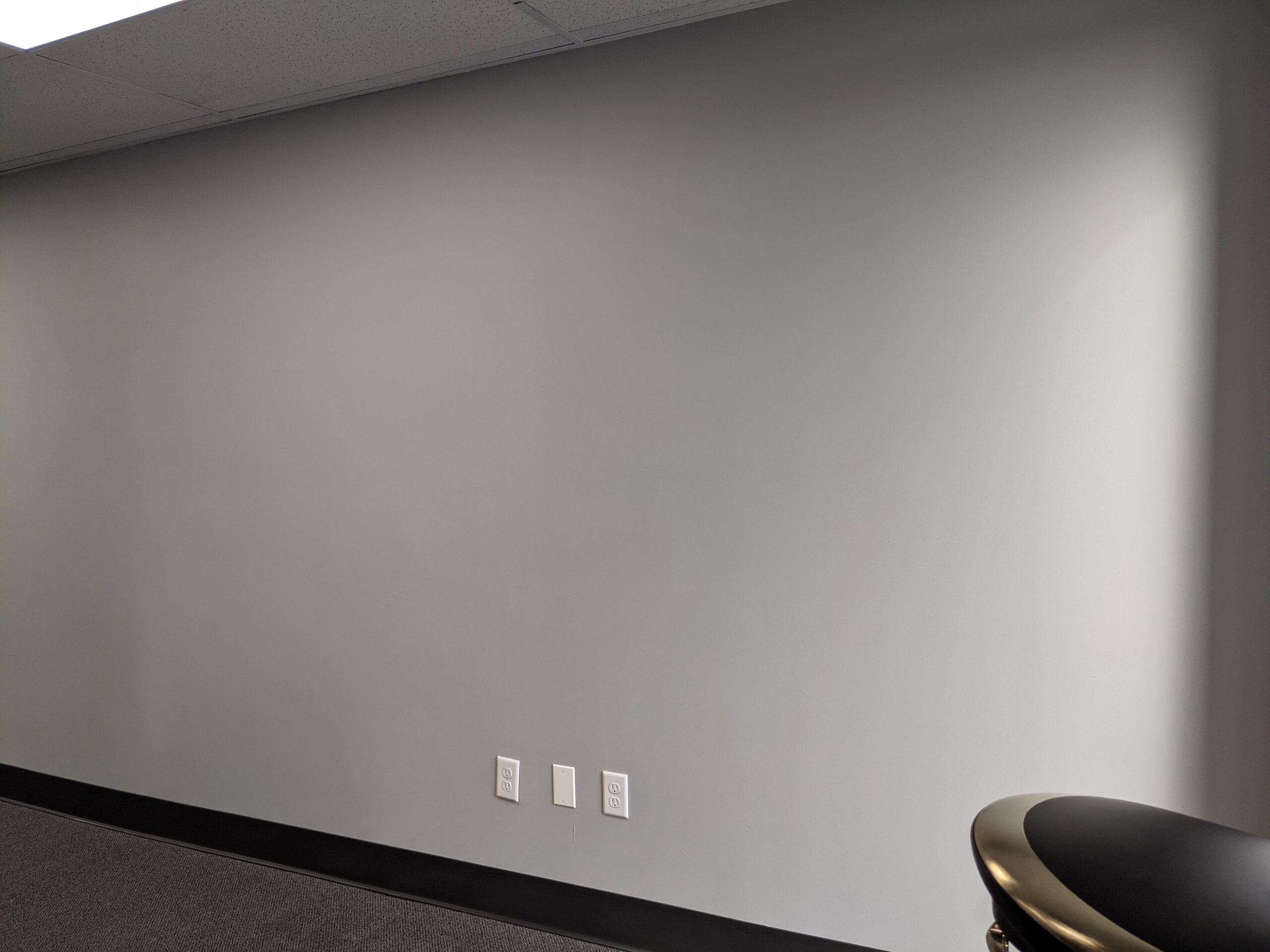 Blank wall expresses nothing