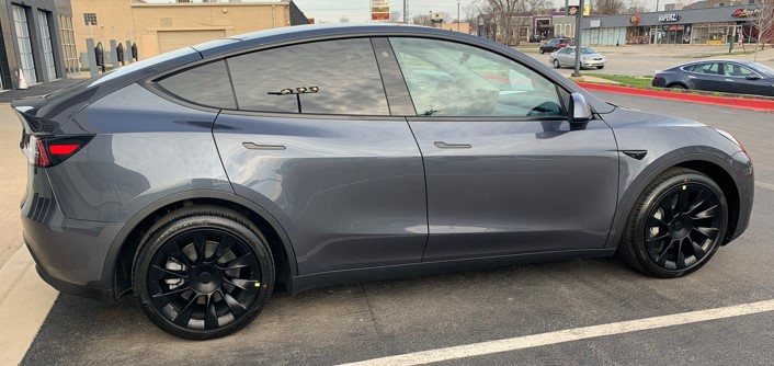 Model Y Before Wrap